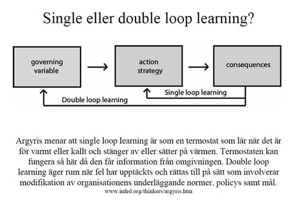 Double Loop Learning kan fungerra som utgångspunkt för Positiv Disciplin och arbete mot mobbning