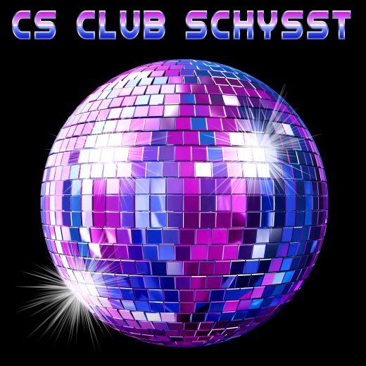 Logotype för CS CLUB SCHYSST Mot Mobbning